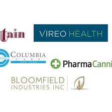 NY LP's logos etain, vireo health, columbia care, pharmacann, bloomfield ind